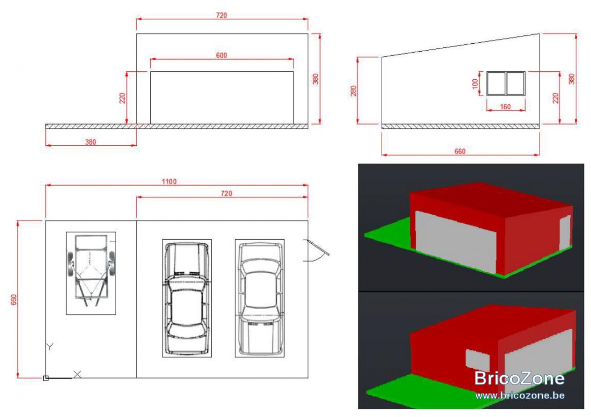 Construire Un Garage Une Pente Avec Une Porte De 6m