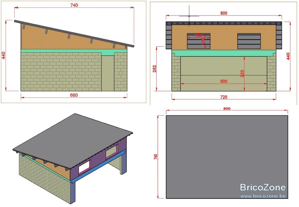 Construire un garage une pente avec une porte de 6m for Construire sont garage