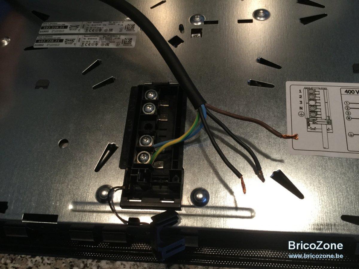 Plaque induction ikea branchement cuisinire mixte with - Branchement table induction electrolux ...