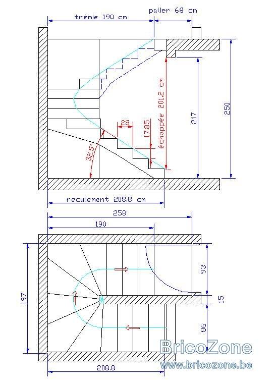 Calcul escalier double 1 4 tournant - Calcul escalier 1 4 tournant ...