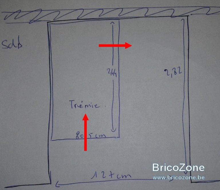 configuration d 39 un escalier sur tremie existante. Black Bedroom Furniture Sets. Home Design Ideas