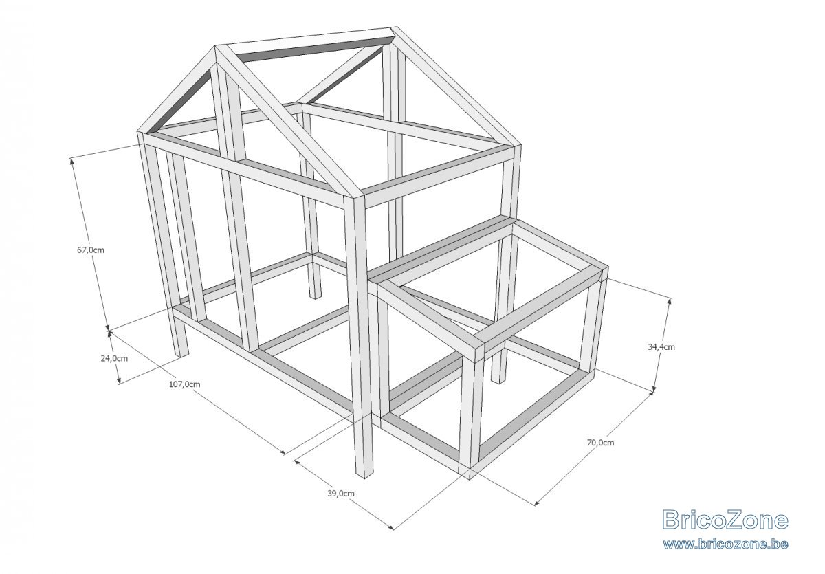 fabrication d 39 un poulailler page 2. Black Bedroom Furniture Sets. Home Design Ideas