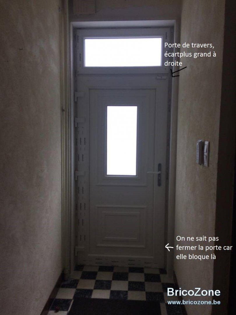 R glage porte d 39 entr e marque alu plast - Charniere de porte d entree ...