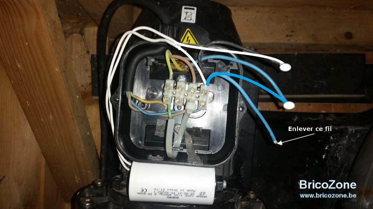 Brancher condensateur pour pompe piscine 3 fils sur 2 fils for Condensateur moteur piscine