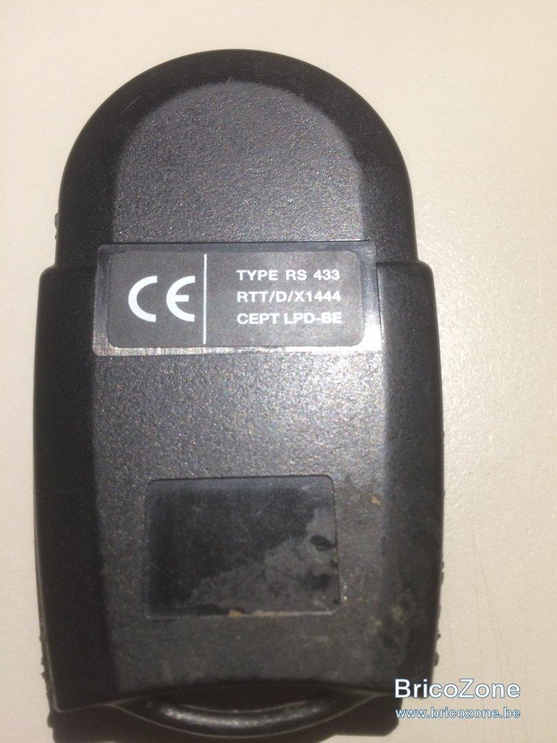 Telecommande porte de garage for Telecommande d ouverture de porte de garage