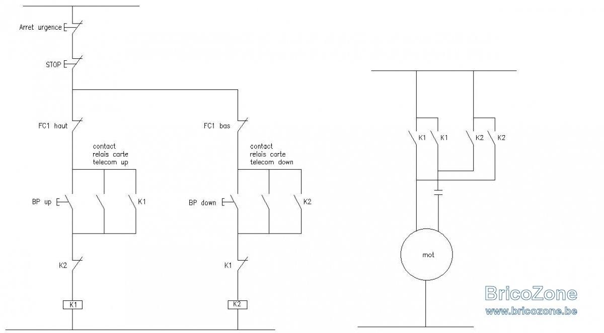schema electrique palan 220v