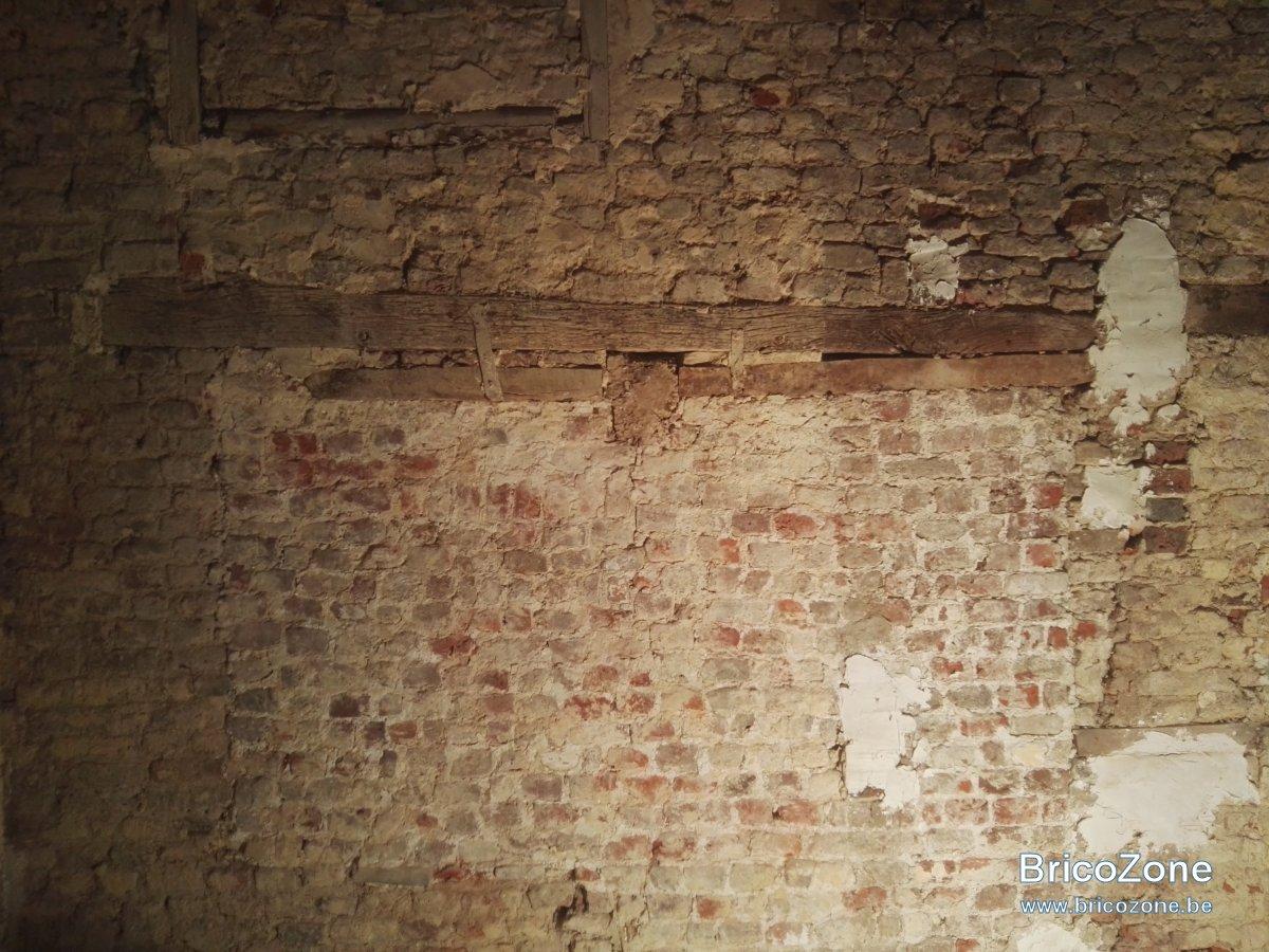 Enduire Vieux Mur En Brique Et Peindre Par Dessus