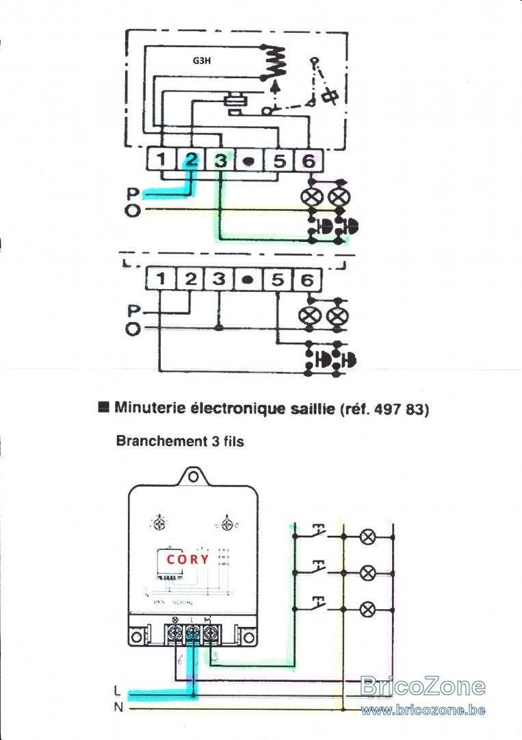 schema electrique minuterie legrand