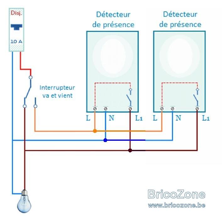Plus adapté cablage de detecteurs de mouvement en parralléles et avec marche FT-78