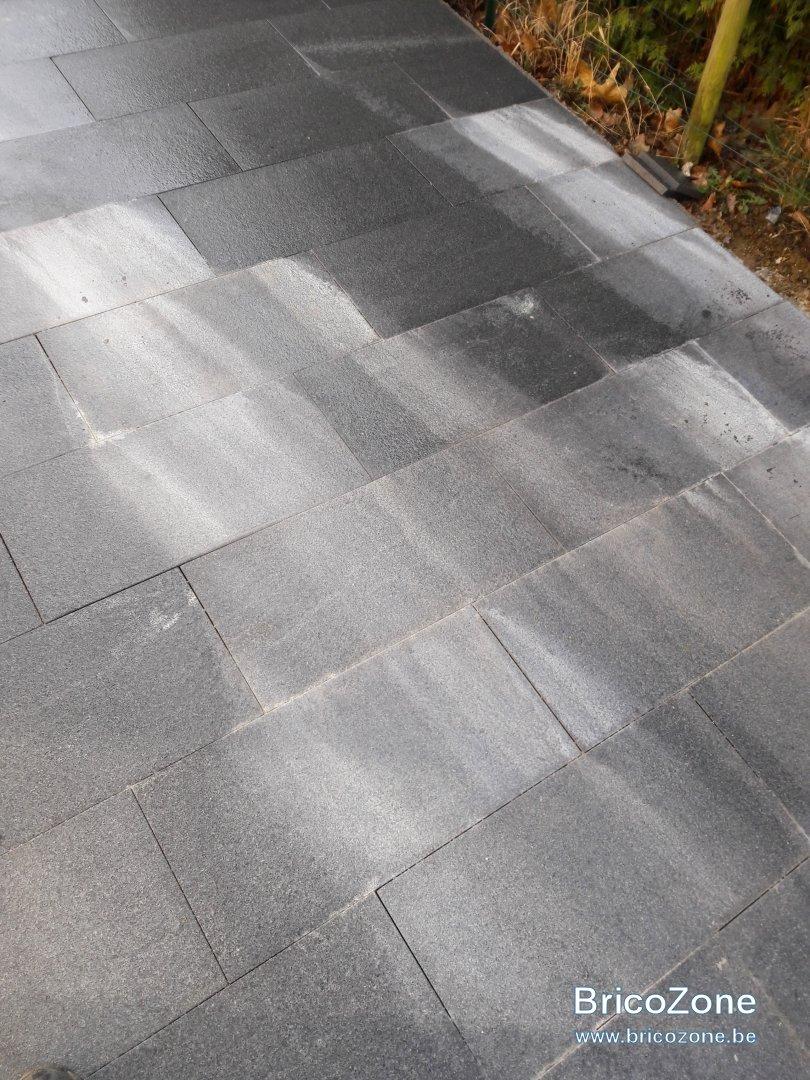 Enlever Taches Noires Dalles Terrasse problème avec dalle en granit