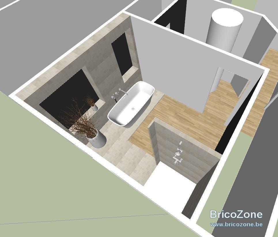 Créer Une Salle De Bain À L Étage amenagement salle de bains à l'etage sur plancher bois