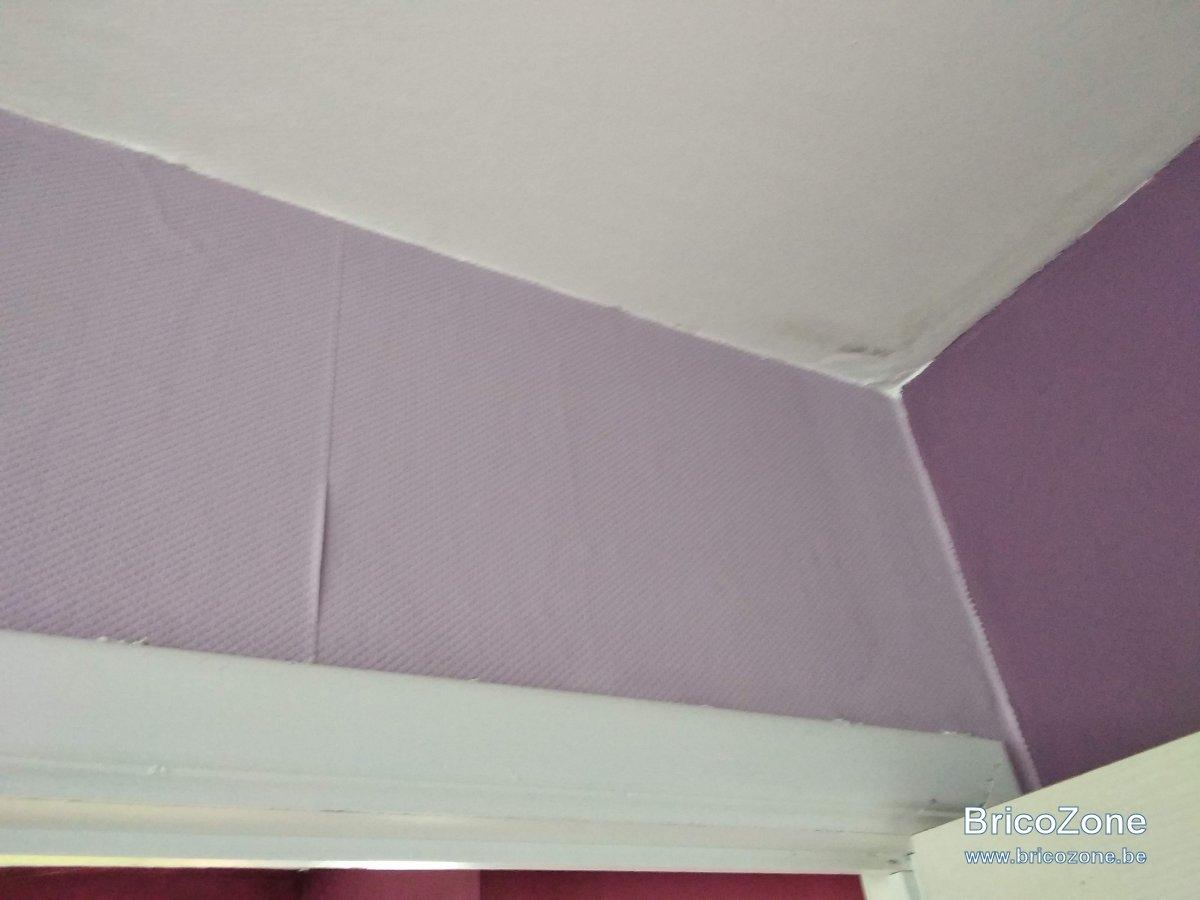 Toile À Enduire Plafond recoller toile de verre