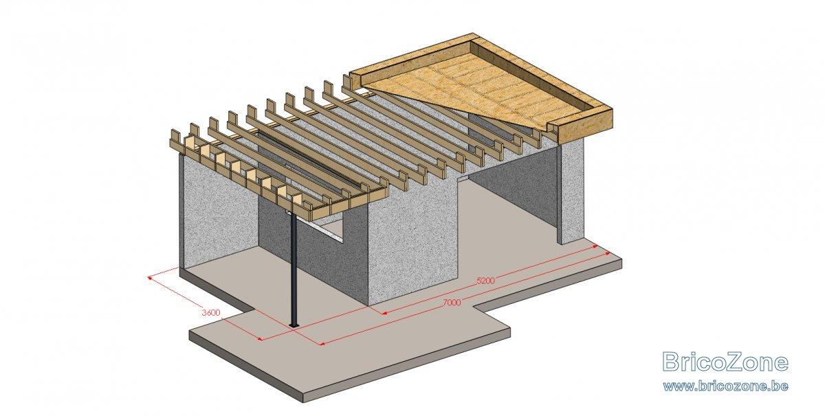 Conseil pour toiture plate d\'abris de jardin