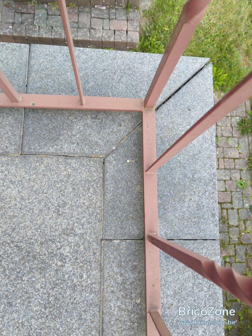 Natte Drainante Sous Carrelage Extérieur rénovation joints terrasse