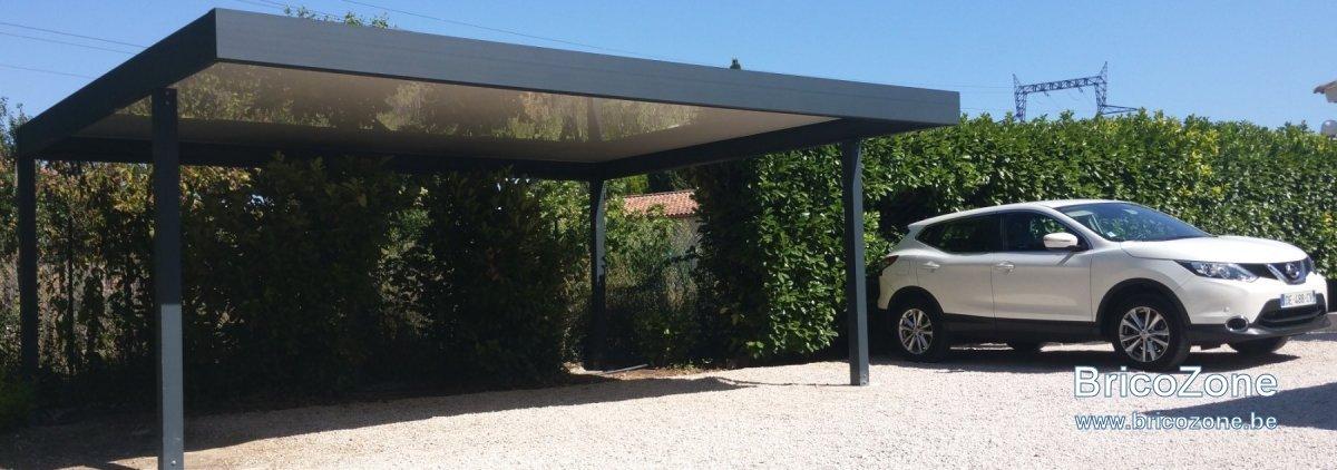 autoconstruction carport acier et bois. Black Bedroom Furniture Sets. Home Design Ideas