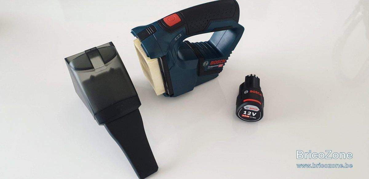 Test Aspirateur Bosch Professionnal Gas 12v