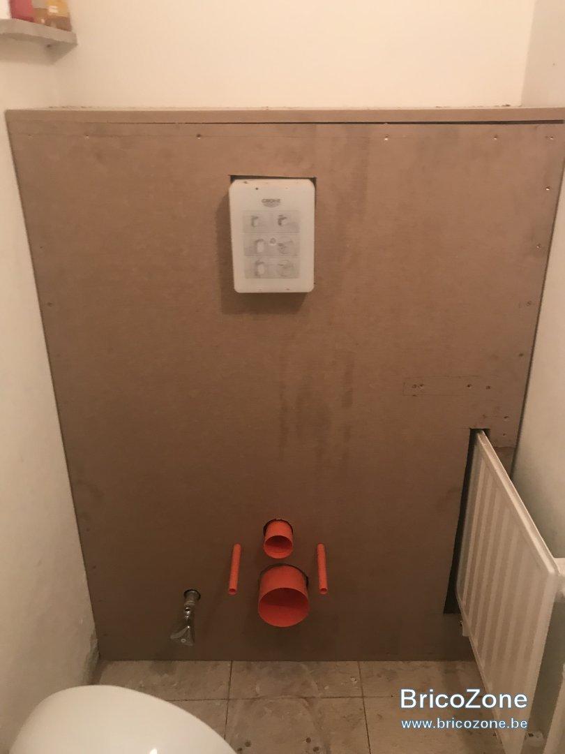 Comment Installer Toilette Suspendu carreler sur un bâti mdf wc suspendu