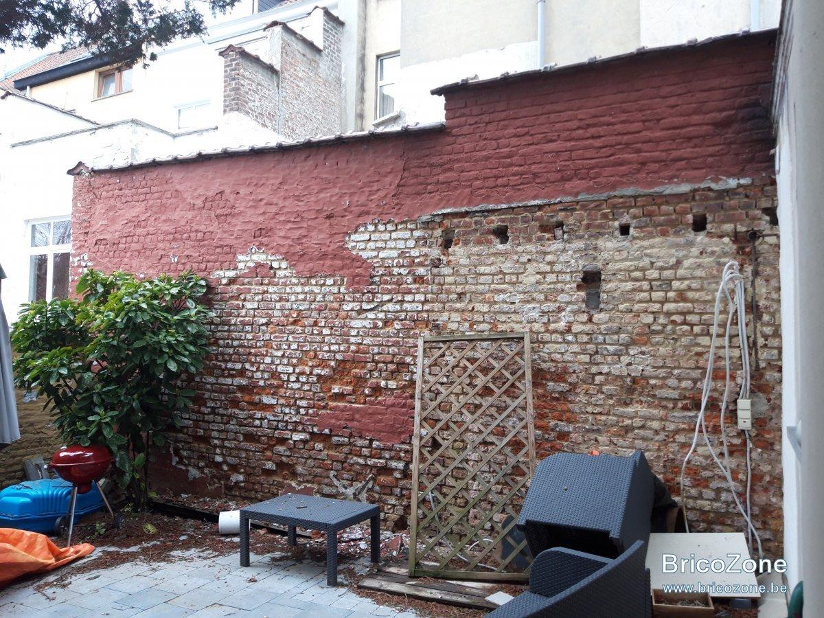 Refaire Joint Parquet Ancien reparation mur brique ancien cour