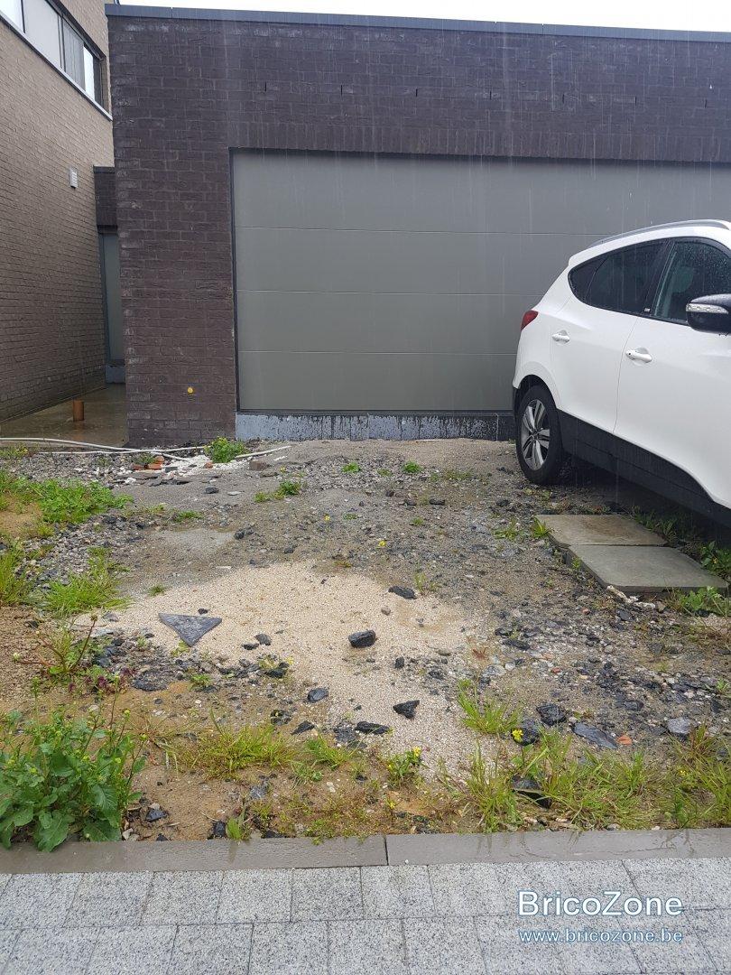 Allee De Jardin En Pente gravier allée garage faible pente