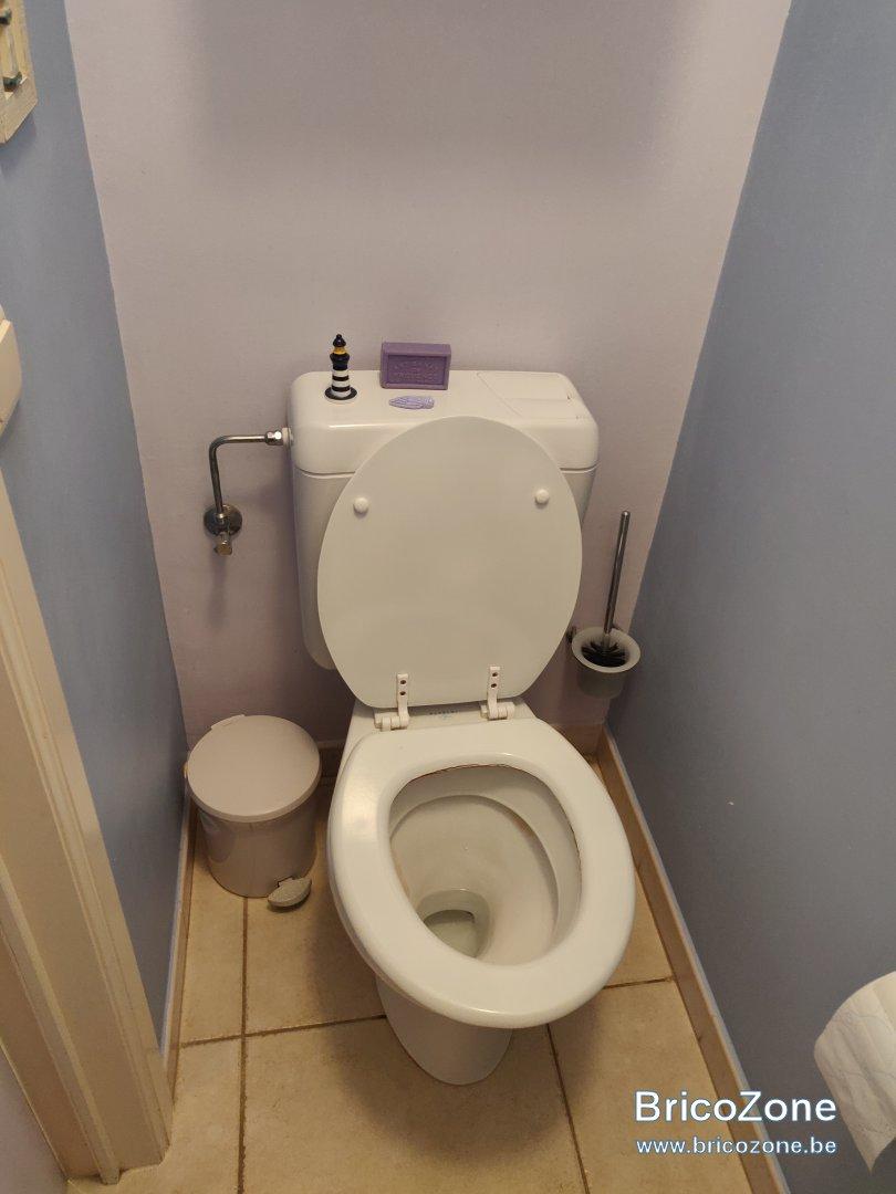 Lave Main Sur Wc Existant rénovation wc - placement d'un wc supendu