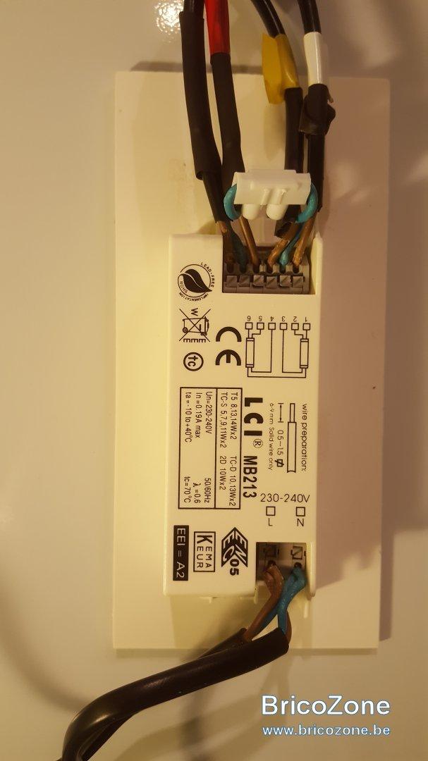 ACAMPTAR R/ésistance de Ballast /à Utiliser avec Une Bobine de Ballast de 1,5 Ohms