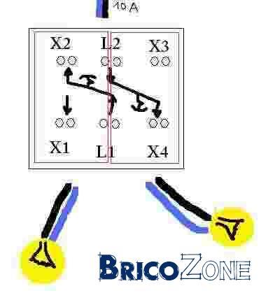 Branchement double va et vient en branchement pas va et vient 2 lampes - Monter un va et vient en interrupteur simple ...
