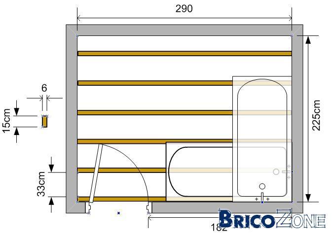 baignoire sur solive en bois quel sens. Black Bedroom Furniture Sets. Home Design Ideas