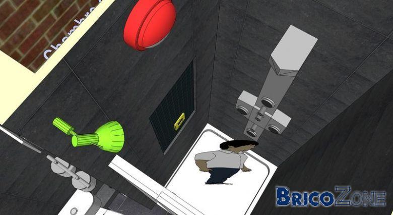 douche clairage mural. Black Bedroom Furniture Sets. Home Design Ideas