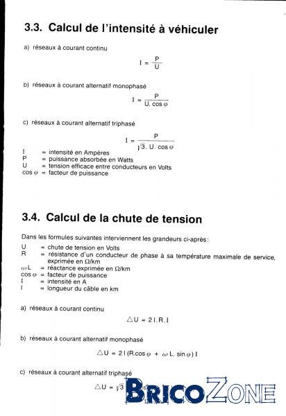 Intensité: calcul ?