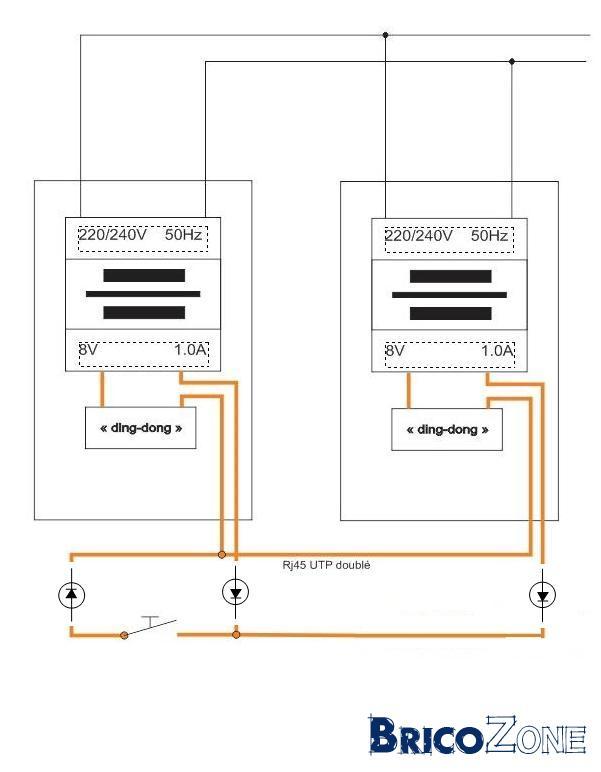 Raccorder 2 sonnettes avec transfo en - Comment installer une sonnette filaire ...