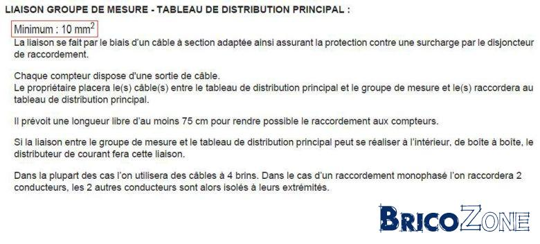 raccordement tableau t�trapolaire