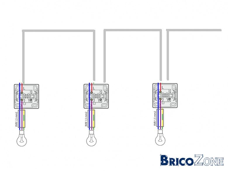 cablage circuit d u0026 39 une ligne  u00e9lectrique de luminaire  comment faire plus simpe