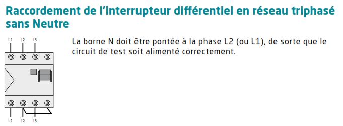 différentiel tétra sur 3x 230 V bouton test