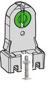 Socquets de montage pour lampe tube fluorescente