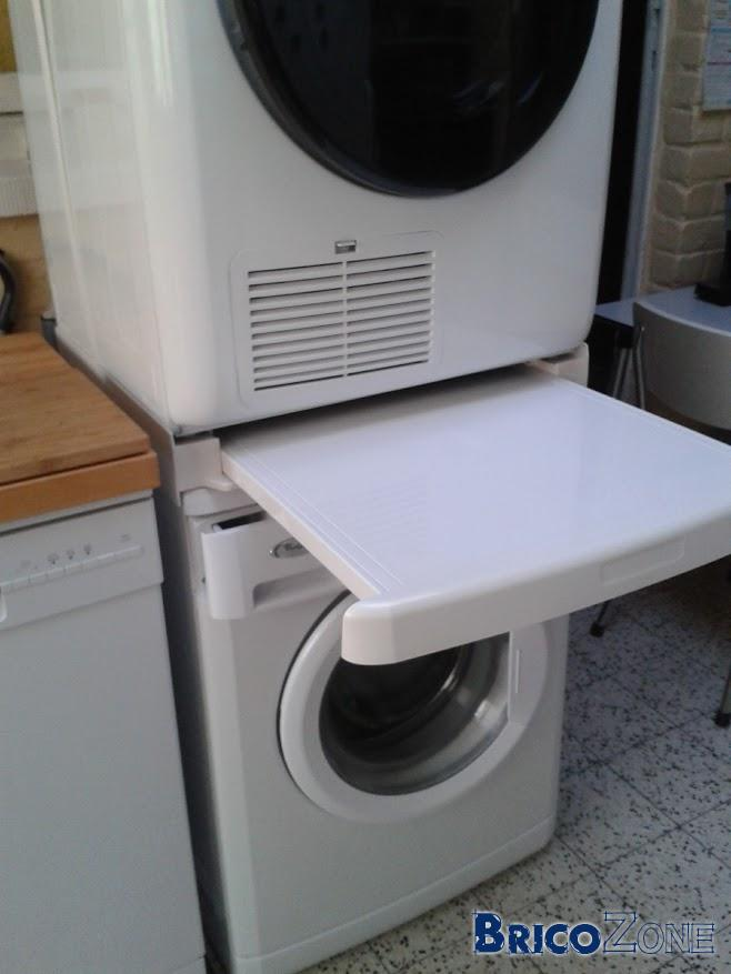 Superposition sèche-linge sur machine à lessiver