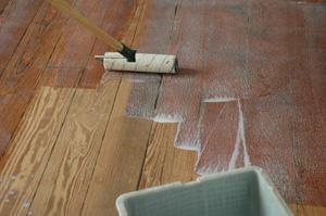 renovation d'un plancher en ch�ne massif
