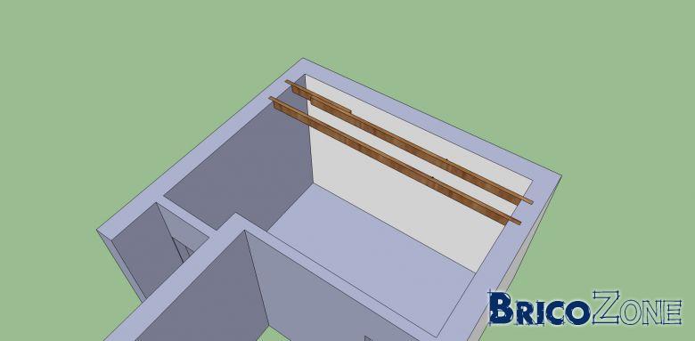 Démolition d'une cheminée - section de poutre du plancher