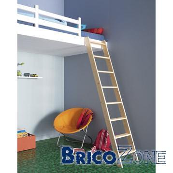 escalier vers lit en mezzanine. Black Bedroom Furniture Sets. Home Design Ideas
