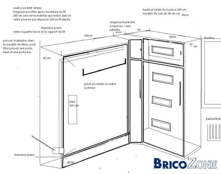 Cherche menuisier pour meuble avec lit escamotable sur mesure - Plan pour fabriquer un lit ...