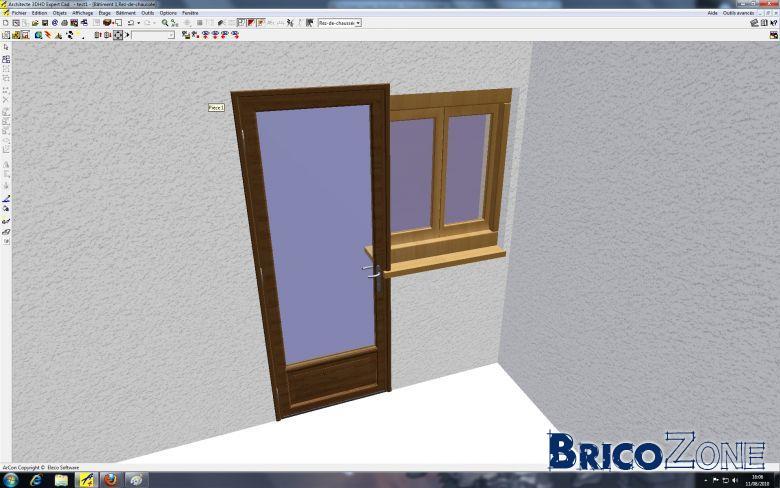 comment assembler une porte et un chassis sans muret entre les 2. Black Bedroom Furniture Sets. Home Design Ideas