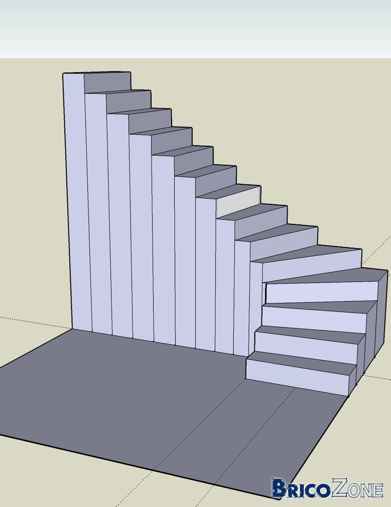 Balancement d 39 un escalier 1 4 tournant for Dessiner un escalier quart tournant