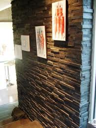 mur intérieur en brique