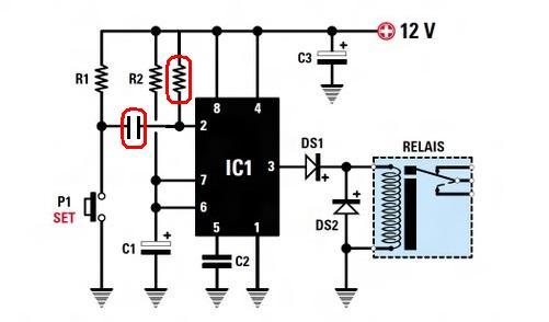 temporisateur  a base du circuit NE555