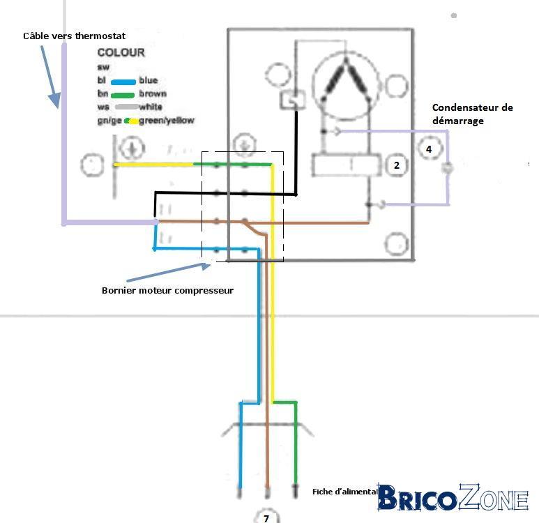 branchement thermostat frigo liebherr. Black Bedroom Furniture Sets. Home Design Ideas