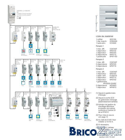 schema electrique delesteur
