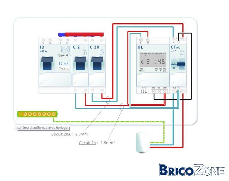 pb branchement relais de déclenchement au contacteur jour/nuit