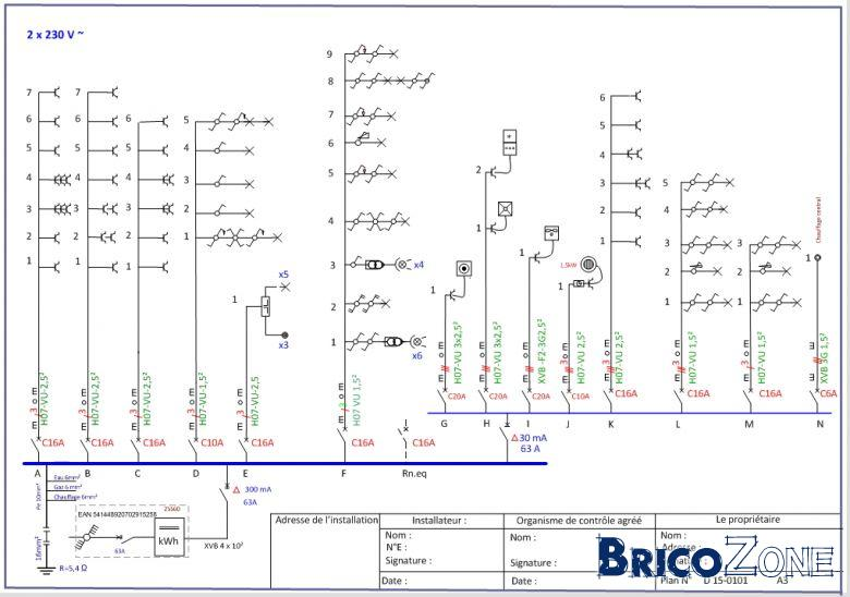 Qui peut me conseiller dans mon installation lectrique - Schema d implantation electrique ...