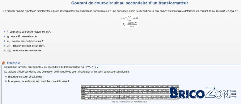 calcul transformateur