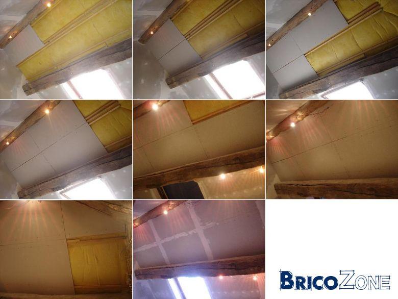 reboucher fissure plafond avec calicot interesting bande fissures arme bande fissures fines. Black Bedroom Furniture Sets. Home Design Ideas