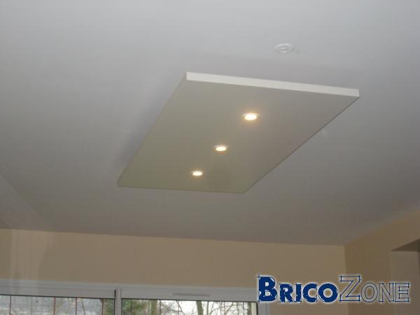 Spots dans plafond suspendu - Plafond a ne pas depasser pour apl ...
